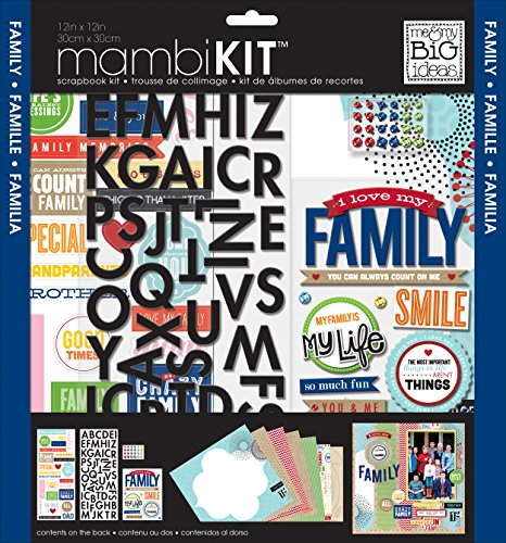 Chipboard Kit - me & my BIG ideas Scrapbook Kit, I Love My Family, 12-Inch by 12-Inch