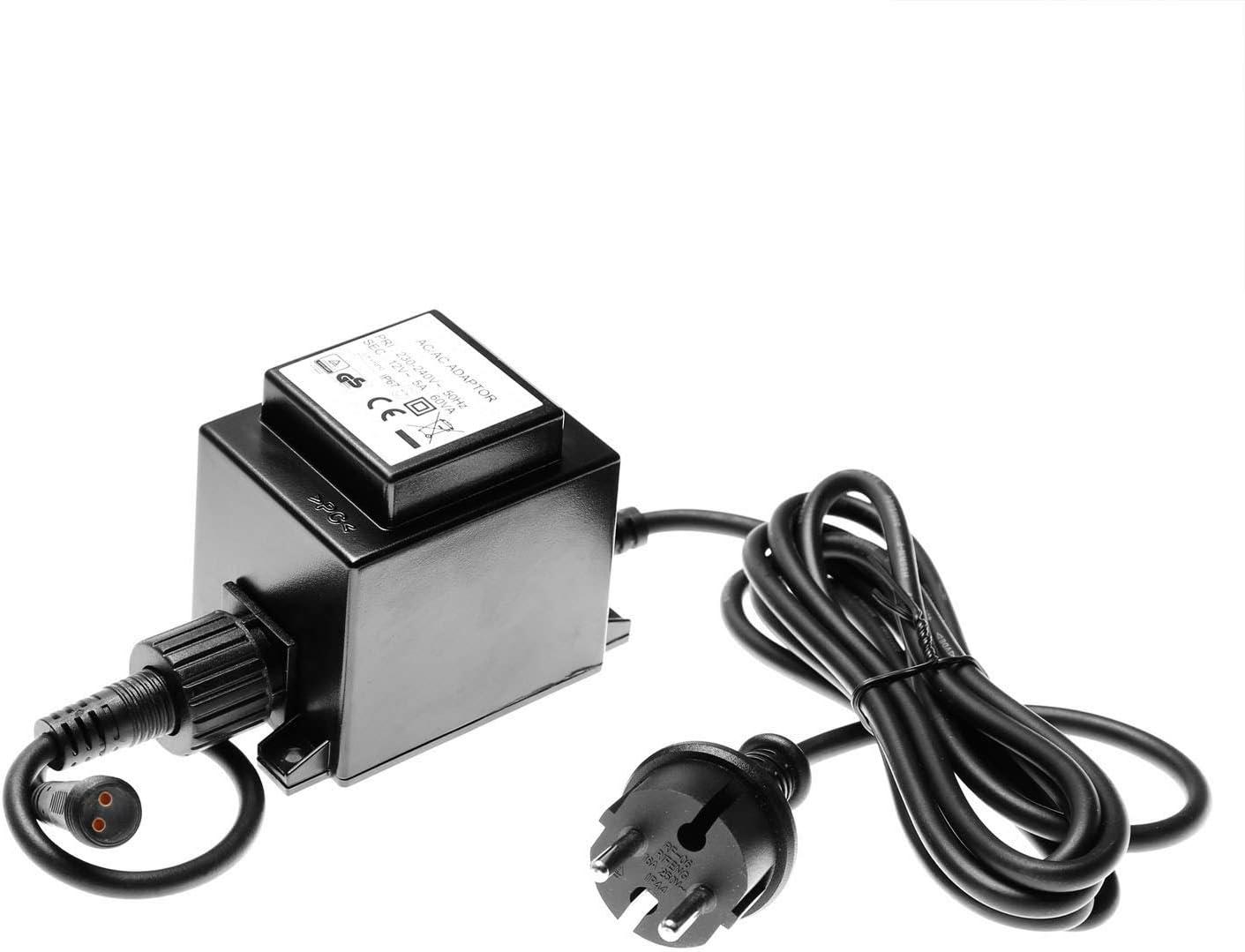 CLGarden Premium Trafo 12V AC 3000mA 36VA 36 Watt 12 Volt 3A IP67 Plug/&Light Netzteil Springbrunnenpumpe LED Gartenbeleuchtung