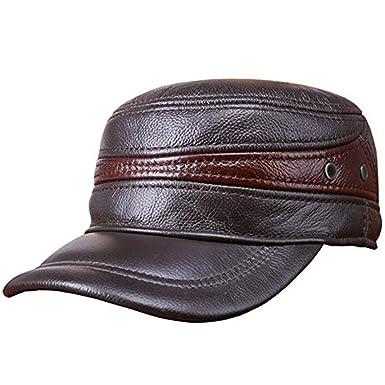 BoBoLily Gorra De Béisbol De Cuero con Protección para Oídos De ...