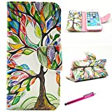 quilted iphone 6 wallet case - iPhone 6 Plus Case, Firefish [Kickstand] iPhone 6 Plus Wallet Case Bumper Slim PU Leather Card slots [Magnetic Closure] for Apple iPhone 6 Plus/6S Plus - Color Tree