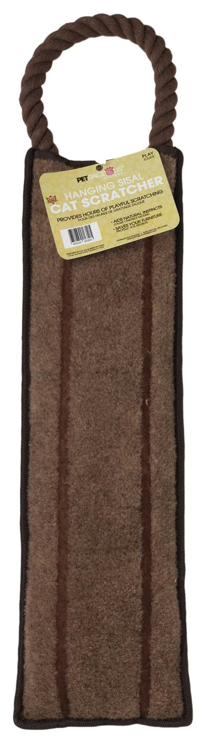 Pet Rageous Odie's Carpet Covered Hanging Cat Scratcher, 25  x 5
