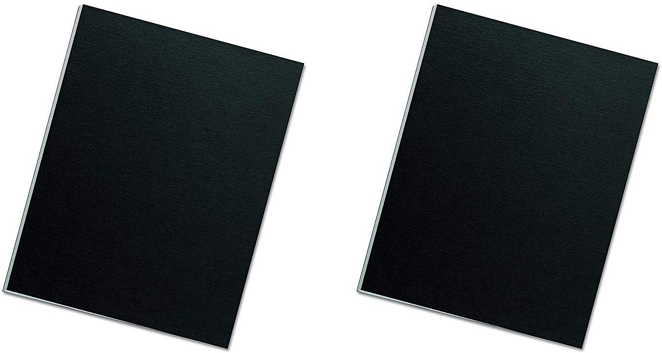 Fellowes Binding Presentation Covers, Letter, Black,(5224901) (2 X Pack of 25) by Fellowes