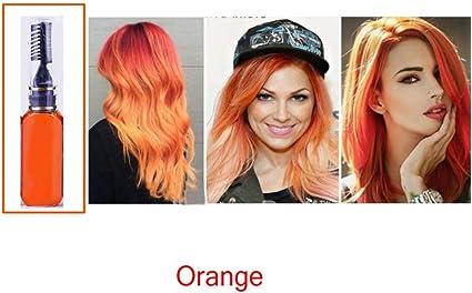 clifcragrocl tinte pelo,15ml Colorante no t¨®xico temporal Tinte para el cabello Unisex Cosplay DIY Salon Hair Mascara - Naranja