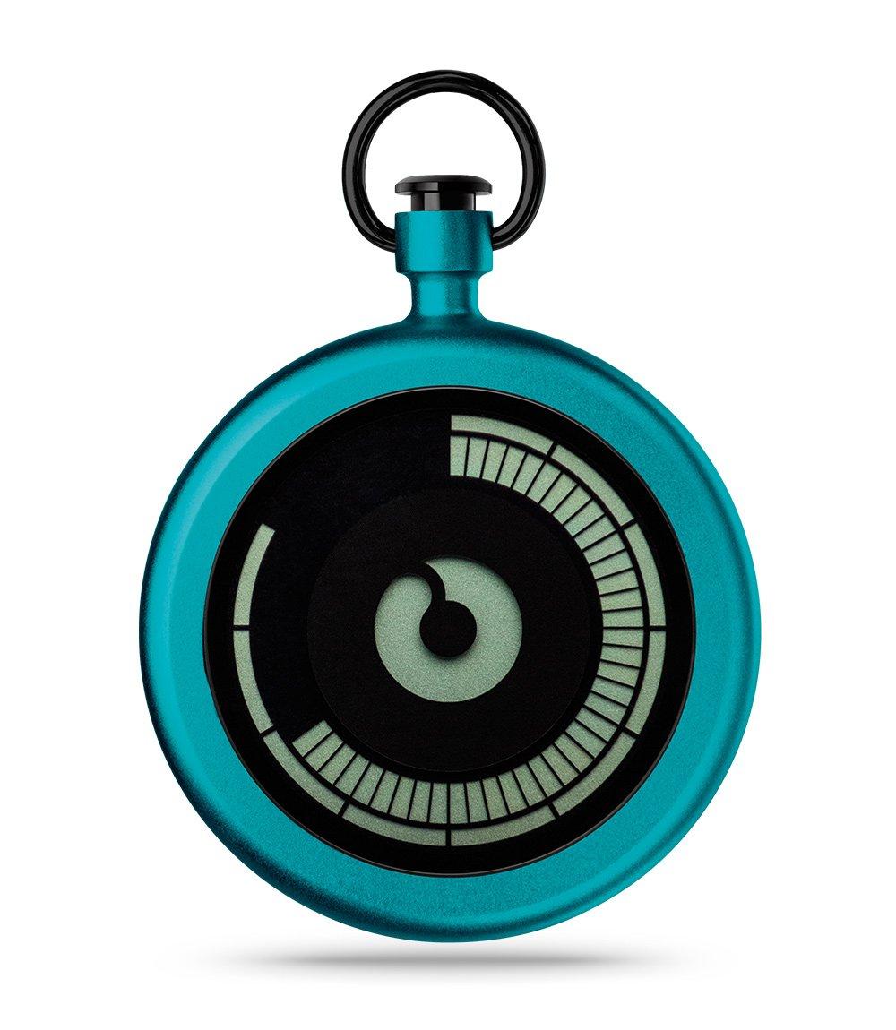 ZIIIRO Z0009PWBL Titan Azure Pocket Watch
