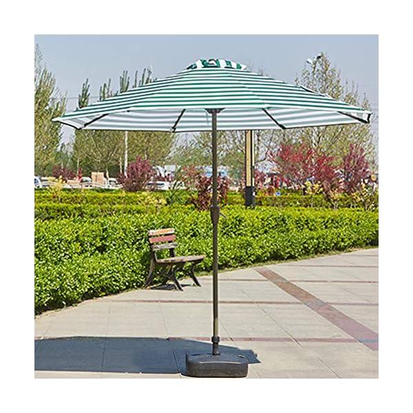 MENG Ombrellone Esterno da 2,5 M Ombrellone Tondo di Ferro Ombrelloni con Protezione Solare E UV Ombrelloni da Giardino… 6 spesavip