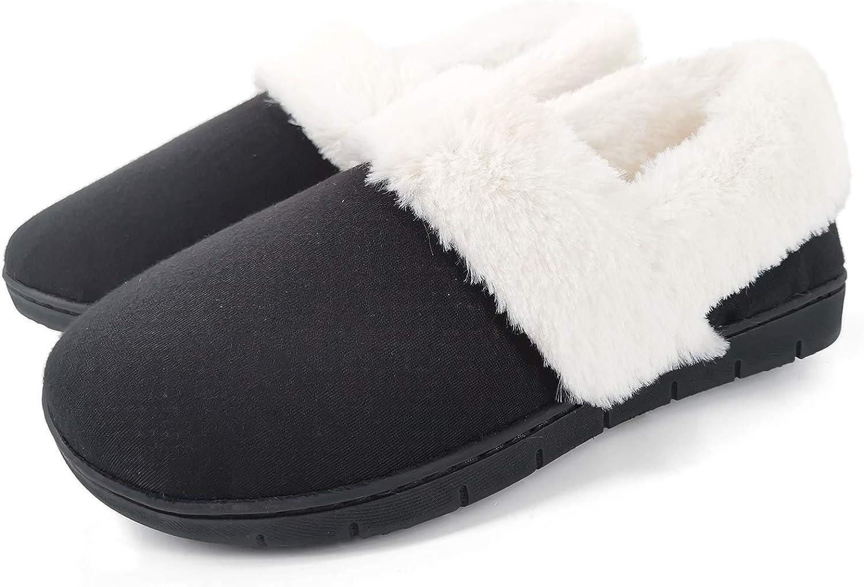 Womens Ladies Sleepers Slip On Slippers Purple Memory Foam Collar Top 3 to 8
