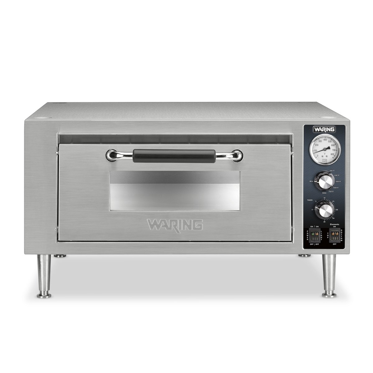 Waring Commercial WPO500 Single Pizza Oven, Silver by Waring