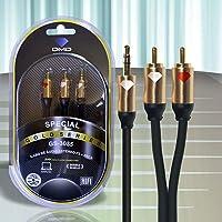 Cabo de Audio P2 / 2x Rca - Gs-3035 DMD Diamond Cable 1,5m