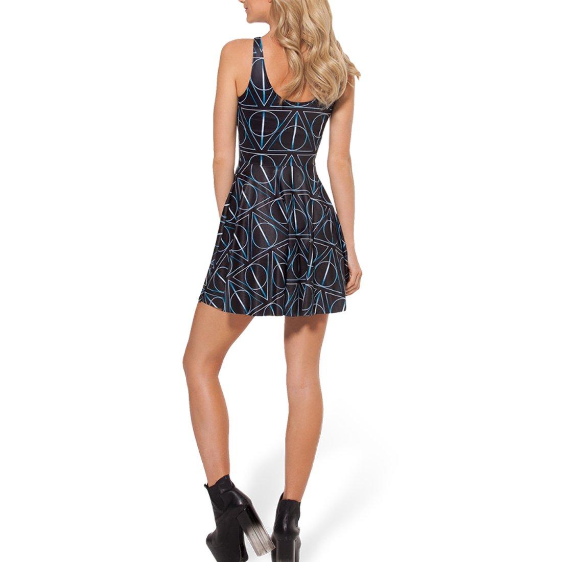 8a247adee7e06 SheOutfit Women's Hot Deathly Hallows Skater Dress