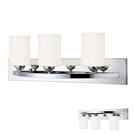 Chrome 3 Bulb Bath Vanity Light Bar Fixture Interior Lighting ...
