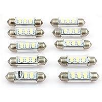 10 X 12V 6 SMD LED 39mm Blanco