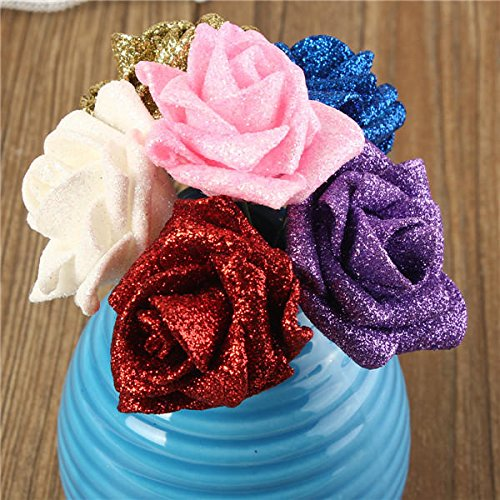 - Artificial Roses Flowers - Foam Roses Flowers - 6 Colors Artificial Rose Nosegay Foam Flowers Simulation Rose - Pink (Artificial Rose Decor)