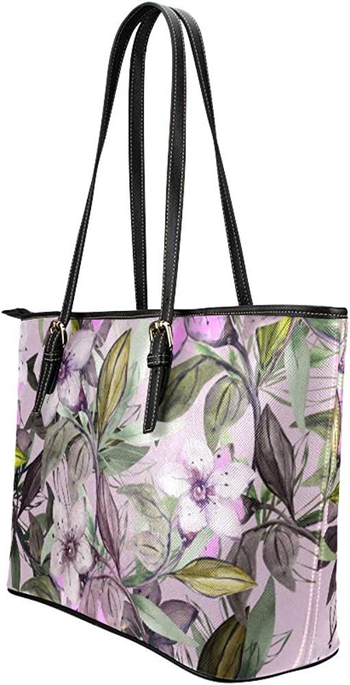 Tote Travel Bag For Women Romantic Spring Retroapricot Flower Leather Hand Totes Bag Causal Handbags Zipped Shoulder Organizer For Lady Girls Womens Xl Tote Bag