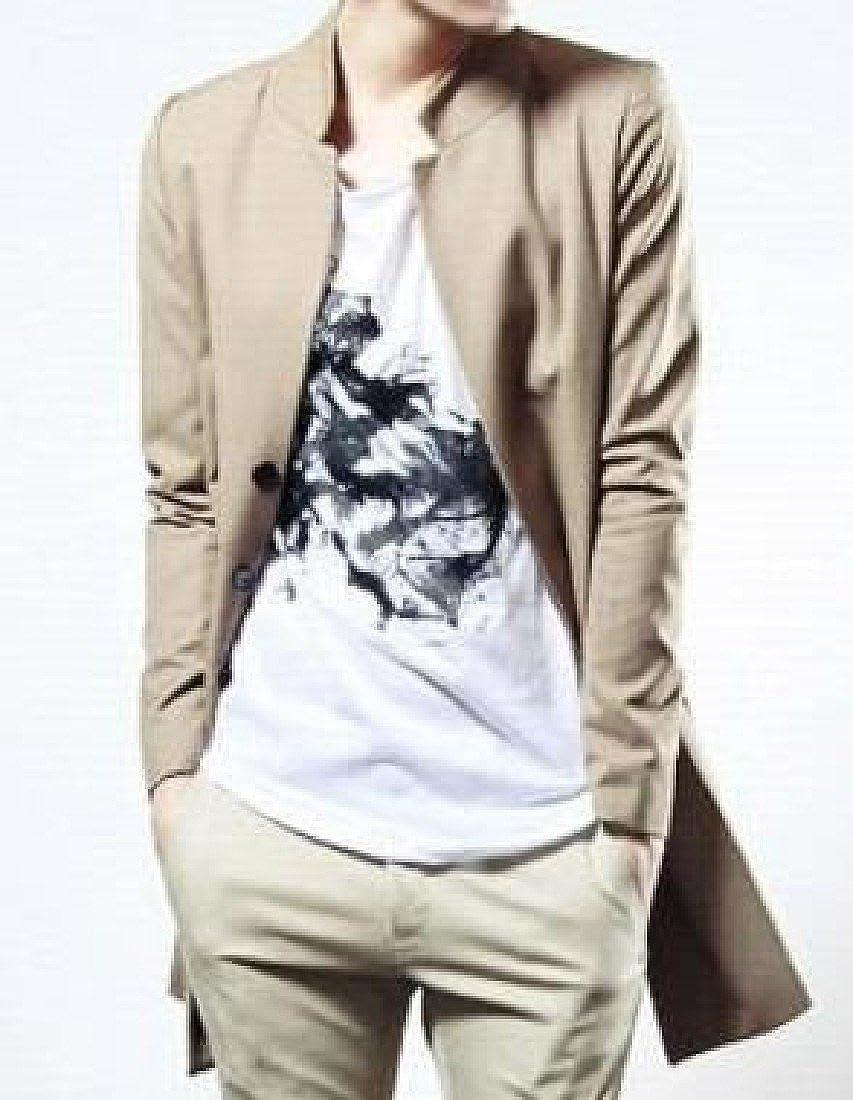RDHOPE-Men Single Breasted Ankle Length Western Windbreaker Outwear