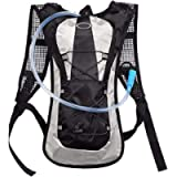 Hydration Backpack - 2.5L (Liter) Water Pack and Waterproof Tactical Hydration Pack for Running, Hiking, Cycling…