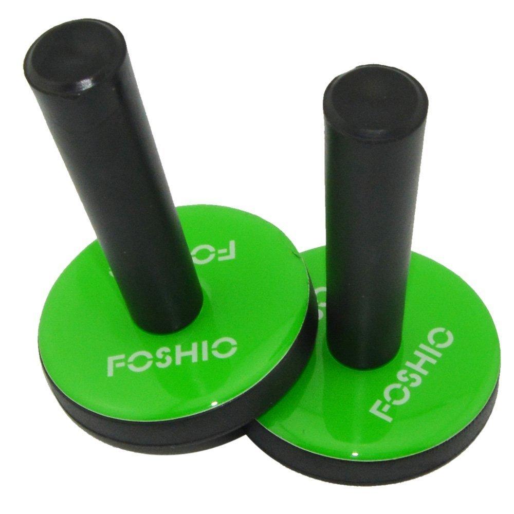 FOSHIO voiture Wrap Noir Gripper Magnet Holder avec tissu tampon feutre sur la base des outils de vinyle demballage de voiture magn/étique Lot de 2