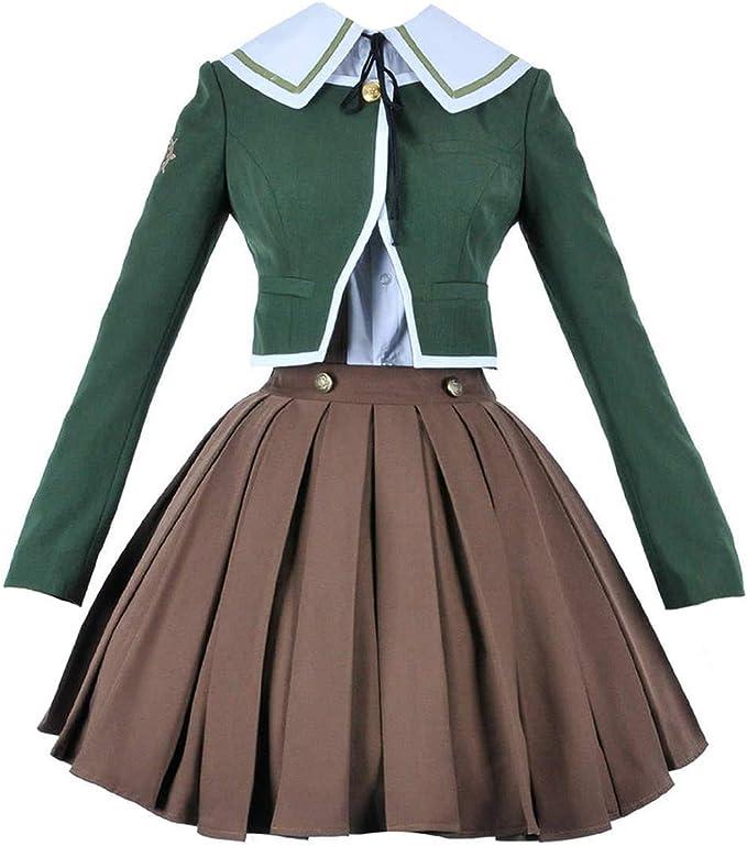 Besutifu Dangan Ronpa Fujisaki Chihiro Cosplay Costume Brown Dress