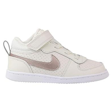 NIKE Baby Mädchen Court Borough MID Sneaker, Mehrfarbig (Phantom MTLC Red  Bronze- 5b79d158a4