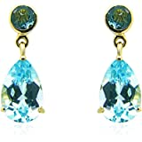 Ivy Gems 9ct Yellow Gold Tear Drop Earrings of Length 1.7cm
