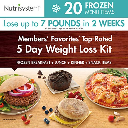 Nutrisystem® Members' Favorites®- TOP Rated, 5 Day Weight Loss Kit (Frozen) (7 Meals A Day For Weight Loss)
