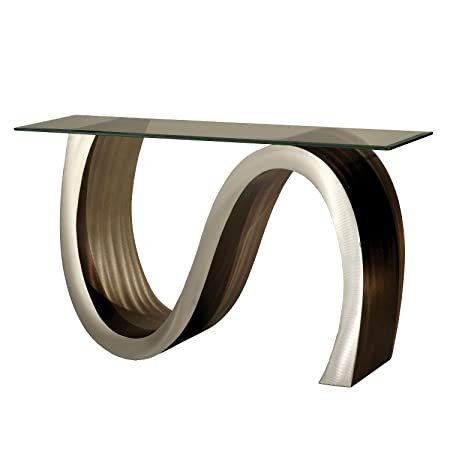 Nova Lighting Meandering Console Table, Root Beer