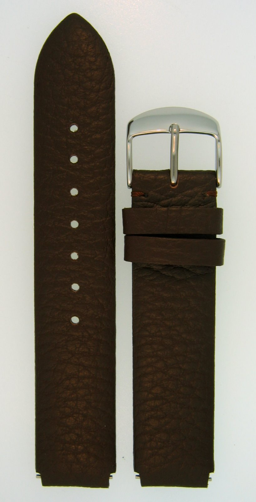 Leather Watchband Fits Philip Stein Large Size 2, 20mm Dark Chocolate Brown With Spring Bars - by JP Leatherworks