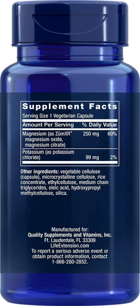 Life Extension Potassium with Extend-Release Magnesium, 60 Count: Health & Personal Care