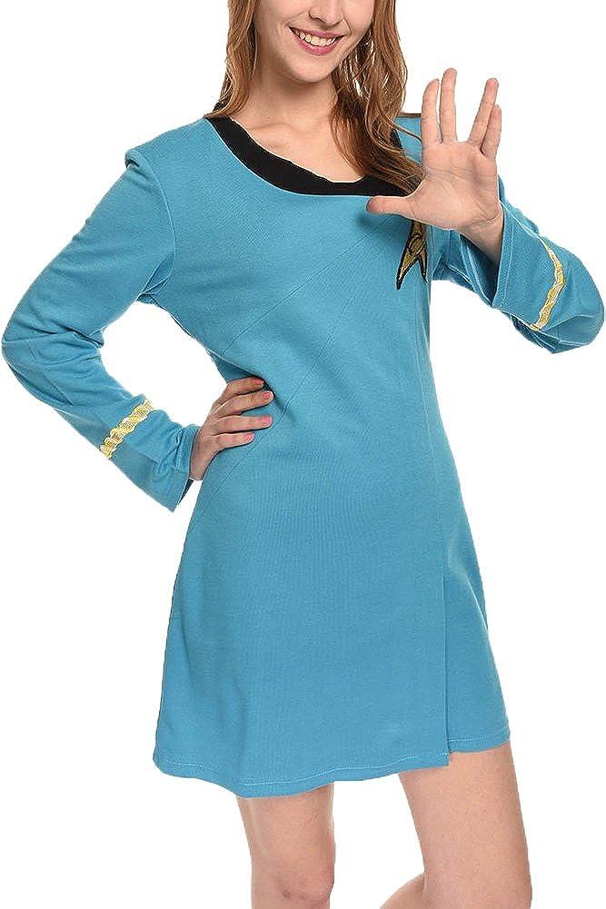 Disfraz de Star Trek TOS azul vestido de las mujeres nos tamaño ...