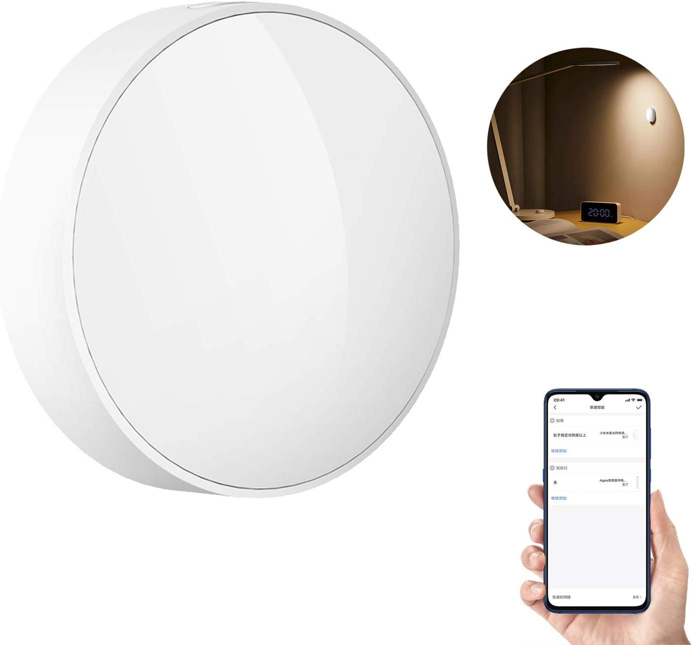Sensor de Luz Inteligente para Xiaomi Mijia Zigbee 3.0 Conexión Inteligente a Prueba de Agua con Detección de Luz Utilizada con Puerta de Enlace ...