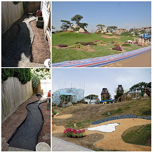 YAOBLUESEA Bordes de jardín bordes para jardín bordes jardín borde jardín plástico PVC 10mx12cm Negro: Amazon.es: Jardín