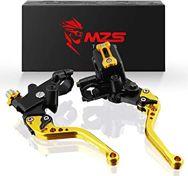 MZS Pivot Levers Brake Clutch CNC for Kawasaki KX65 2000-2019// KX85 2001-2019// KX100 2001-2019// KX125 2000-2005// KX250 2000-2004// KX250F 2004 Gold