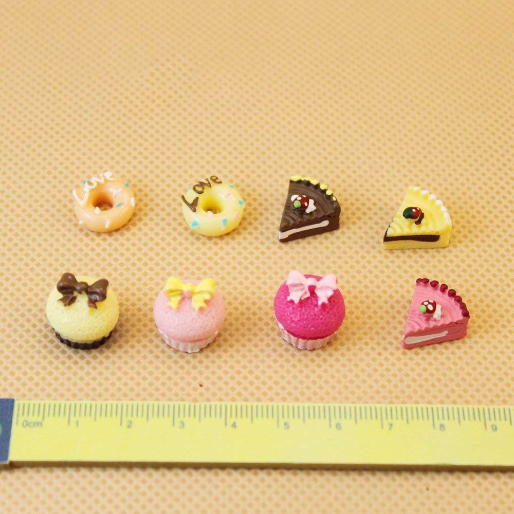 NiceButy Lot de 8pcs G/âteaux D/écoration Miniature pour 1//12 Maison de Poup/ée Jouet pour No/ël Toussaint