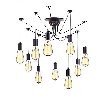 kiven vintage chandelier 10 lights antique pendant light home ceiling light fixtures chandeliers lighting