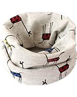 Bufanda BIGBOBA de puro algodón para niños. Bufanda calentadora de cuello para viajar al aire libre en otoño y en invierno, algodón, Blanco, 40*20cm