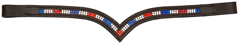 cwel Equine NEU DESIGNER Kristall stirnband braun Full//COB in 2/Reihen Team GB V