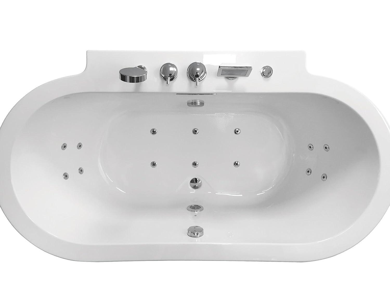 ARIEL Platinum AM128JDCLZ Whirlpool Bathtub Freestanding