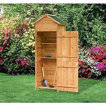 animalmarketonline armario almacenamiento Jardín Herramientas Caseta de jardín armario H 190 cm 190 x 79 x 49 cm: Amazon.es: Jardín