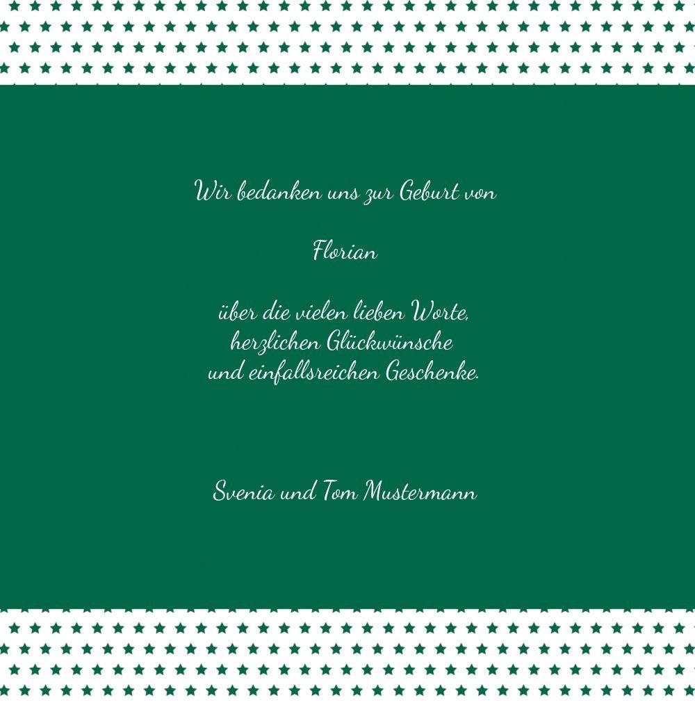 Kartenparadies Danksagung für Geburt Baby Dankeskarte Sternchen, hochwertige Danksagungskarte Danksagungskarte Danksagungskarte Baby inklusive Umschläge   100 Karten - (Format  145x145 mm) Farbe  braunmatsch B01MZFP8IA | Modernes Design  | Zarte  | Authentisch  b5953d