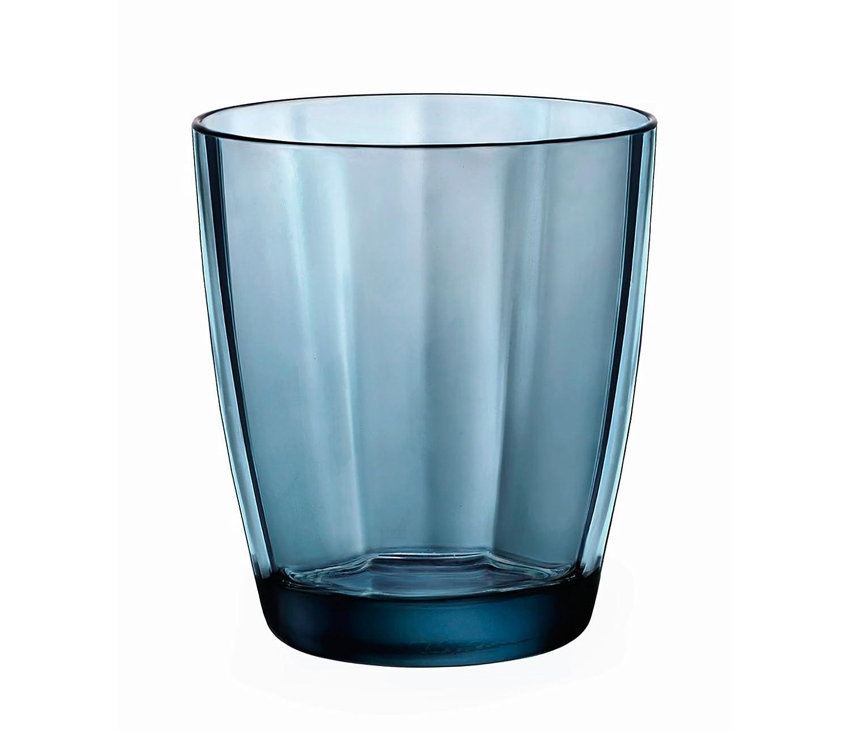 Bormioli Rocco 1337139 Pulsar Vasos (Cristal, 39 Cl, Azul 39Cl Pengo