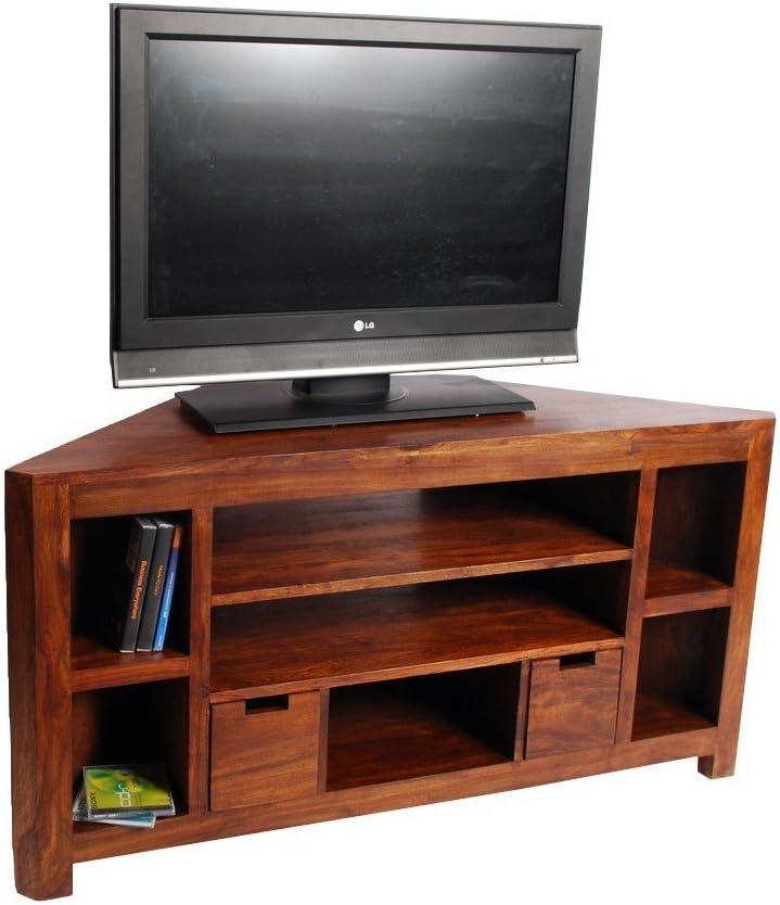 Mueble TV de esquina (palisandro: Amazon.es: Hogar