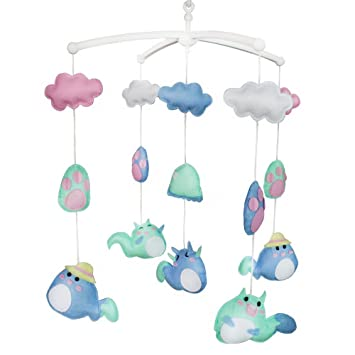 Amazon.com : [Cute Animals] Handmade Baby Crib Musical Mobile Colorful Room  Decor, Exquisite : Baby