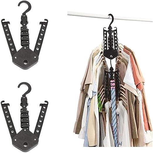 Ahorro de Espacio Organizador de Ropa Percha m/ágica Plegable Multifuncional Tpocean Armario para Ropa o Pantalones