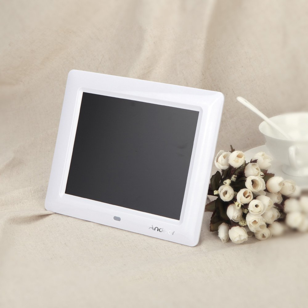 Andoer 8  HD TFT-LCD Digitali Foto Cornice Orologio MP3 MP4 Movie Player con Remote Desktop