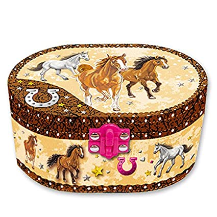 Amazoncom Hot Focus Dashing Horse Oval Shaped Musical Jewelry Box