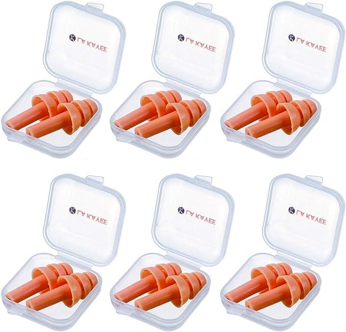 Ayouyou Set of 5 Soft Silicone Swim Ear Plugs Safety Cord Silikon Aquatics Ohrenst/öpsel EINWEG Verpackung