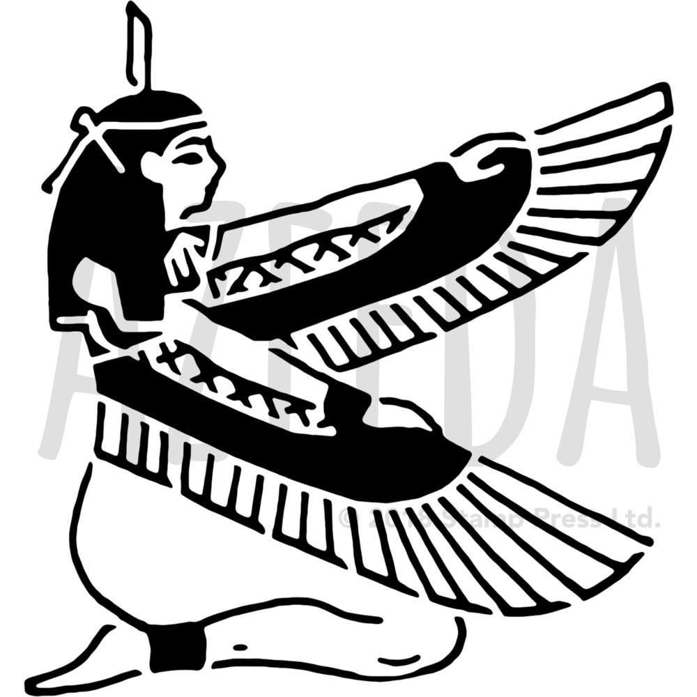 アゼダ ラージ A2 'エジプト女神' ウォールステンシル/テンプレート (WS00027425) B078JKXB7J