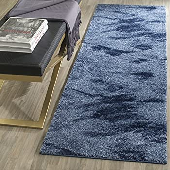 Safavieh Retro Collection RET2891 6065 Modern Abstract Light Blue And Blue  Runner (2u0027