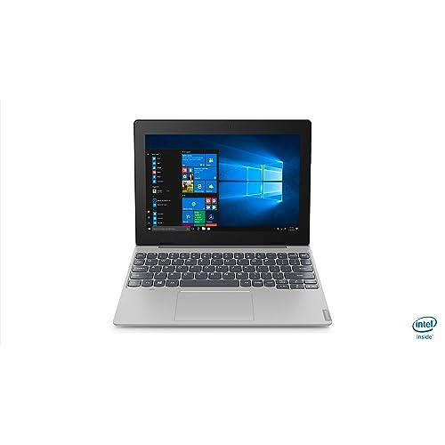 """Lenovo Idéapad D330 Ordinateur Portable Hybride 2-en-1 détachable 10,1"""" Argent (Intel celeron, 4 Go de RAM,eMMC 64 Go, Windows 10)"""