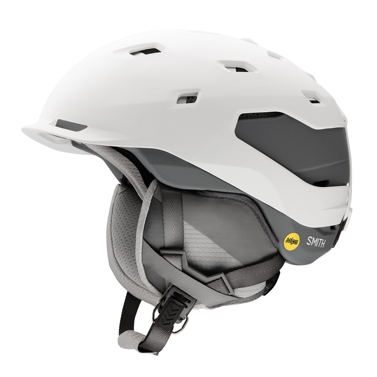 Smith Quantum Mips Snow Helmet - Matte White / Charcoal (Small) by Smith Optics