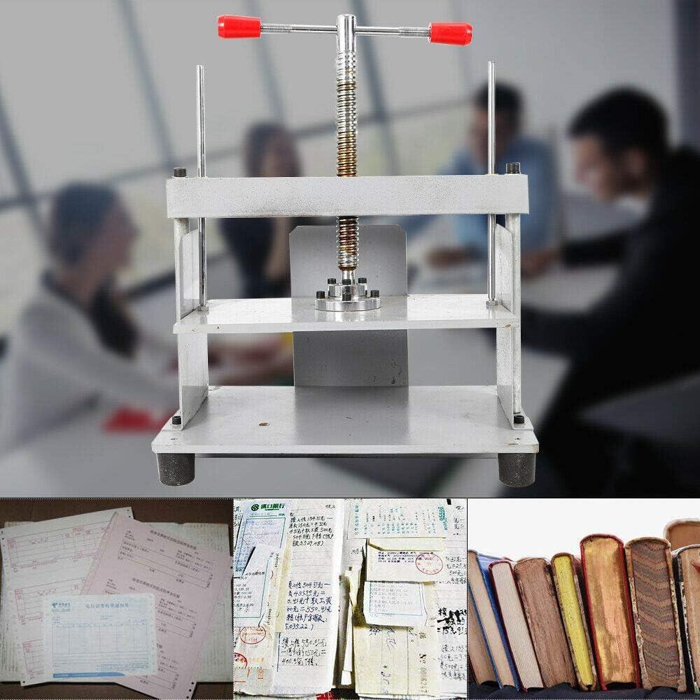 HYYKJ Steel Bookbinding Press Bookbinder Binding Machine Screw Papermaking Book Press A4 Flat Paper Press Shaping Flattening Machine